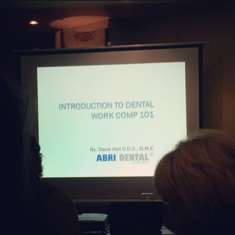 Introduction to Dental Work Comp 101